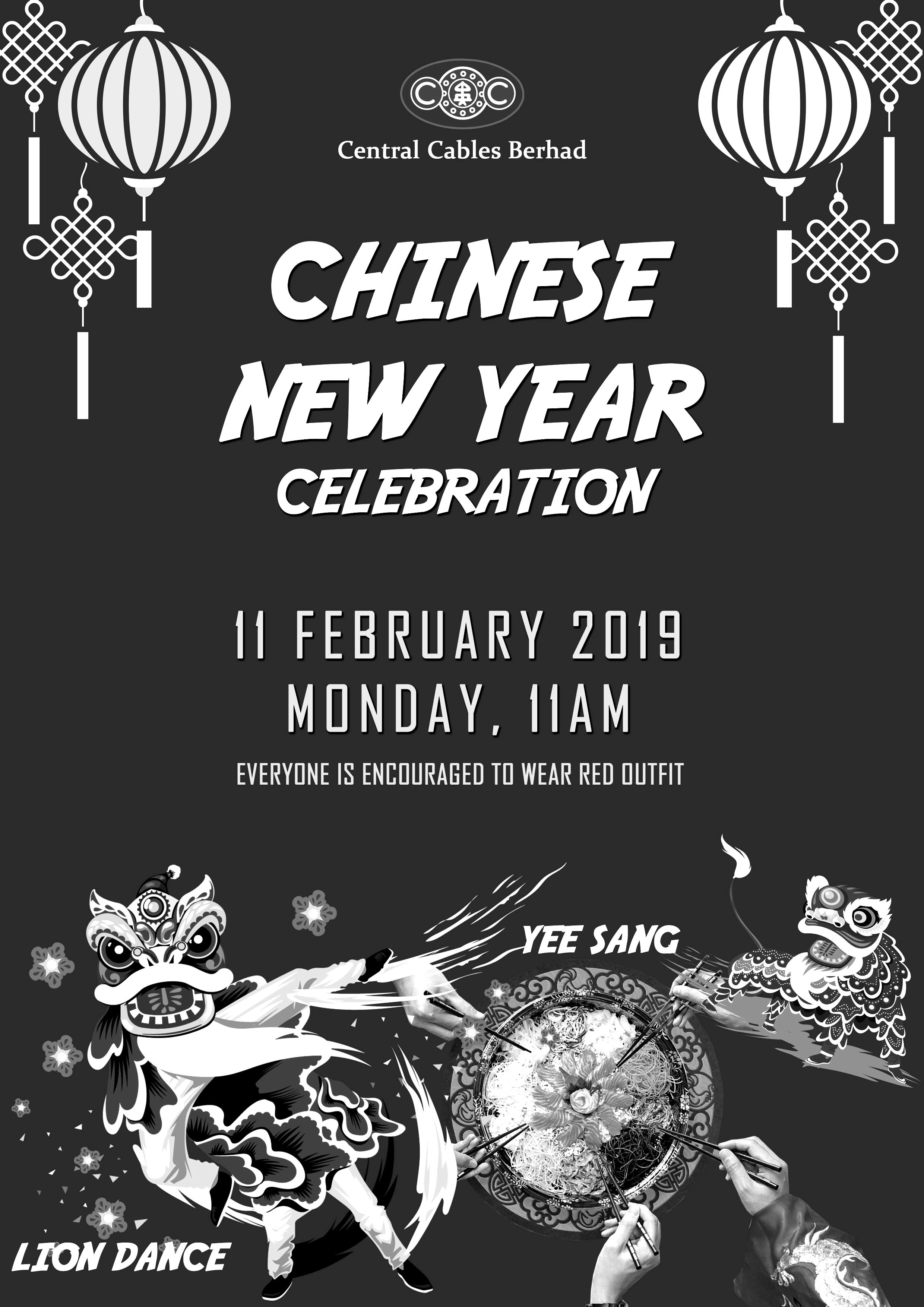Central Cables Berhad – Chinese New Year Celebration 2019