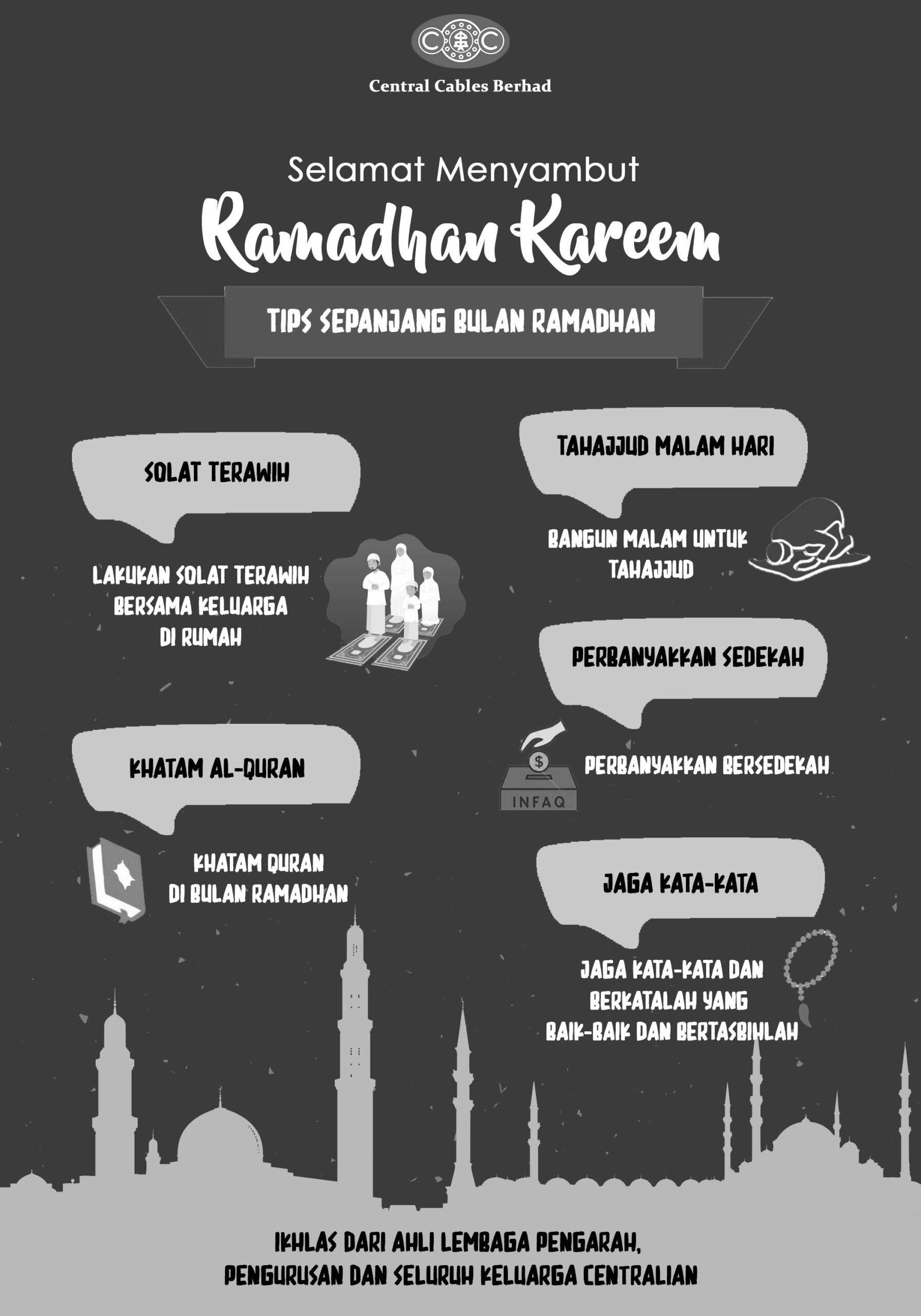 Selamat menyambut ibadah puasa kepada seluruh umat islam.